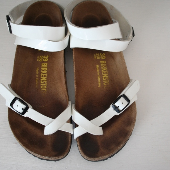 Birkenstock Yara White Patent Sandals